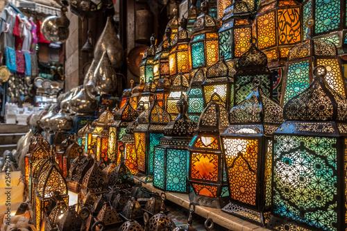 muslim style's lantern shining - 254710931