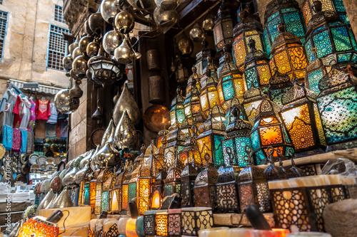muslim style's lantern shining - 254710946