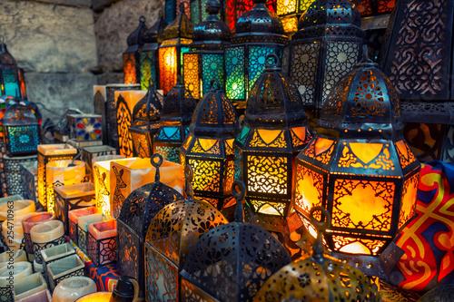 muslim style's lantern shining - 254710963