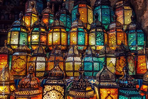 muslim style's lantern shining - 254710996