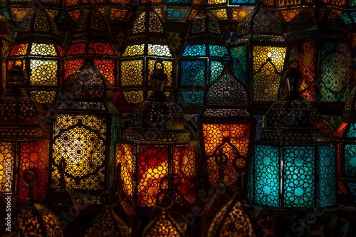 muslim style's lantern shining - 254711115
