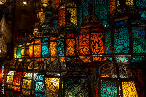 muslim style's lantern shining - 254711123