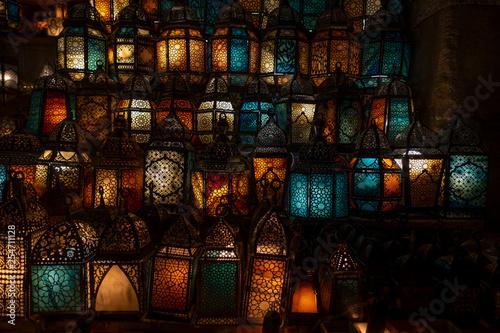 muslim style's lantern shining - 254711128