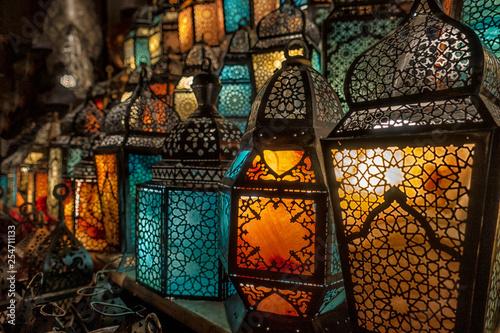 muslim style's lantern shining - 254711133