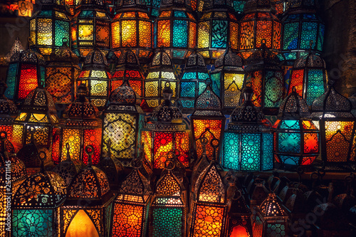 muslim style's lantern shining - 254711145
