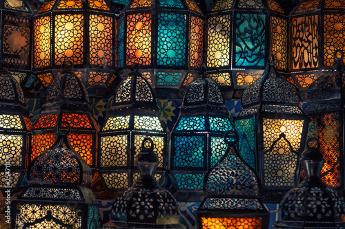 muslim style's lantern shining - 254711176