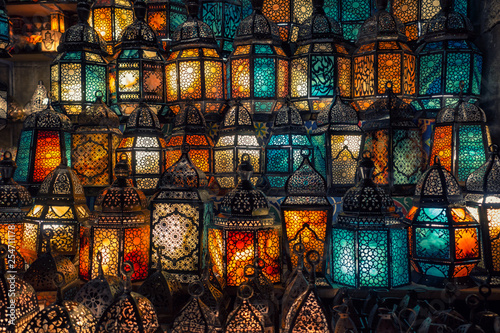 muslim style's lantern shining - 254711178