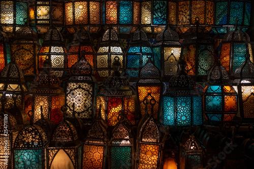 muslim style's lantern shining - 254711180