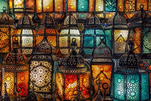 muslim style's lantern shining - 254711199
