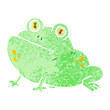 quirky retro illustration style cartoon frog