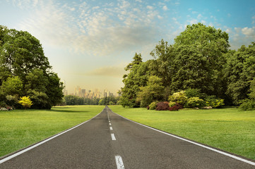 concept of road, from the countryside to the city.