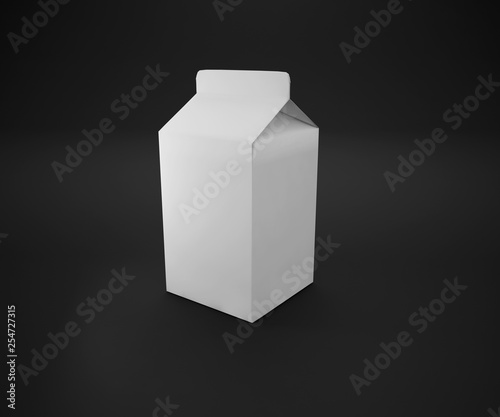 Blank fermented milk product packaging isolated on white background. 3d render