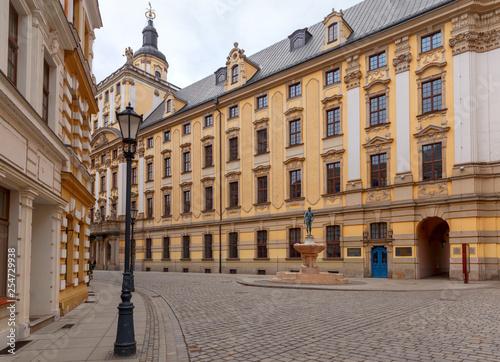 obraz lub plakat Wroclaw. Old Town Street.