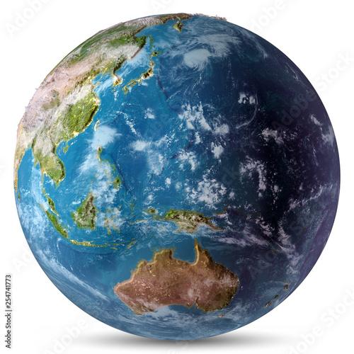 Leinwanddruck Bild Pacific white isolated