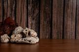Fototapeta Rocks - Kamienie na drewniany tle © Robert