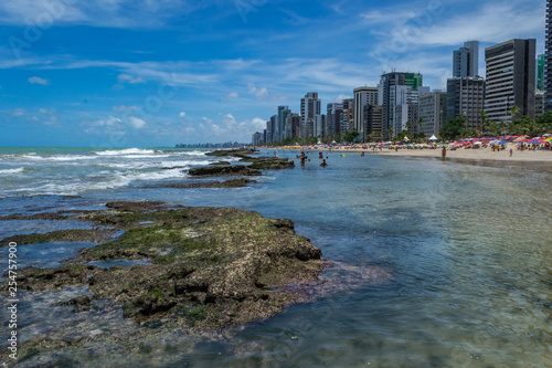 Leinwandbild Motiv Cities of Brazil - Recife, Pernambuco state's capital - Boa Viagem Beach
