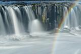Wasserfall Sellfoss mit Regenbogen, Island
