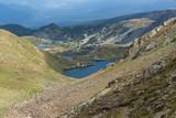 Amazing panoramic view of The Seven Rila Lakes, Rila Mountain, Bulgaria