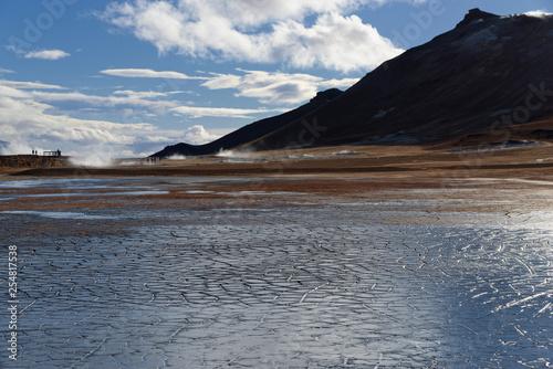 ausgetrocknetes Schlammbecken, Geothermalgebiet Hverir, Myvatn, Island