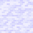 Violet brick wall pattern. Seamless vector background