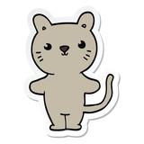 sticker of a cartoon cat