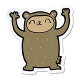 sticker of a cute cartoon bear