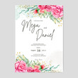 cute floral wedding invitation ready print