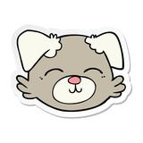 sticker of a cartoon dog face