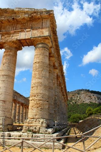 Classic Doric Greek Temple At Segesta, Sicily