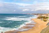 Vista da Praia de Santa Cruz em Torres Vedras Portugal