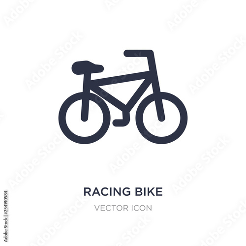racing bike icon on white background. Simple element illustration from Sports concept.