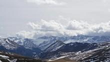 "Постер, картина, фотообои ""landscape of mountains from formigal winter resort, Spain"""