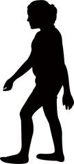 a girl walking body silhouette vector © turkishblue