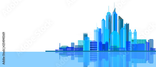 city blue background - 254941369