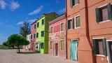 Colorful Venice Burano houses