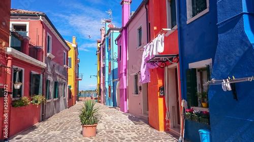 Colorful Venice Burano houses - 254942372