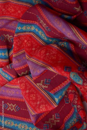 etnic tribal textil texture - 254963781