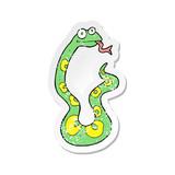 retro distressed sticker of a cartoon snake