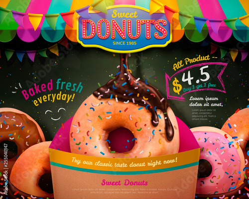 Delicious donuts ads