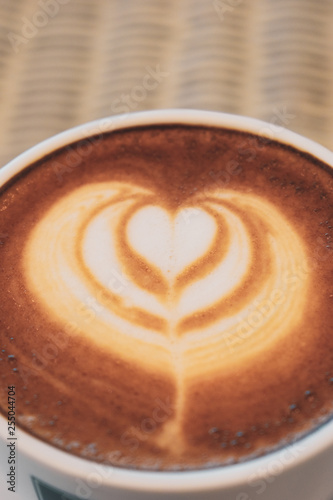 latte art of coffee
