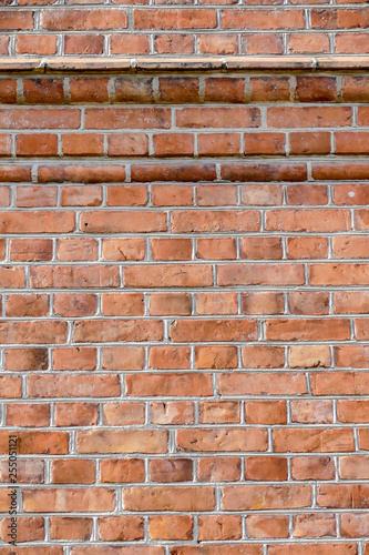 old red brick wall background, in Sweden Scandinavia North Europe - 255051121