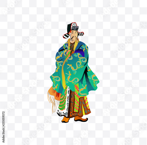 man in Chinese costume illustration © Javid Kheyrabadi