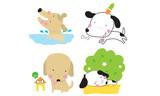 Cute dogs cartoon