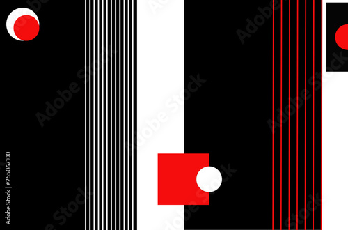 Bright color background in avant-garde style. Texture units for celebration and advertising. - 255067100