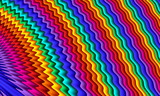 Bright rainbow wavy abstract background. Artwork for creative design and art. - 255068561