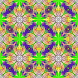 Multicolored flower pattern in fractal design. You can use it for invitations, notebook covers, phone cases, postcards, cards, wallpapers. Artwork for creative design, art and entertainment. - 255069559