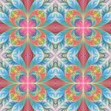 Beautiful seamless flower pattern in fractal design. Artwork for creative design, art and entertainment. - 255072165