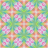 Beautiful seamless flower pattern in fractal design. Artwork for creative design, art and entertainment. - 255072703