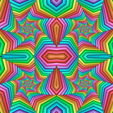 Multicolor Seamless abstract festive pastel pattern. Tiled ethnic pattern. Geometric mosaic. Great for tapestry, carpet, blanket, bedspread, fabric, ceramic tiles, stained glass window, wallpapers - 255075193
