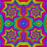 Multicolor Seamless abstract festive vivid pattern. Tiled ethnic pattern. Geometric mosaic. Great for tapestry, carpet, blanket, bedspread, fabric, ceramic tiles, stained glass window, wallpapers - 255076133